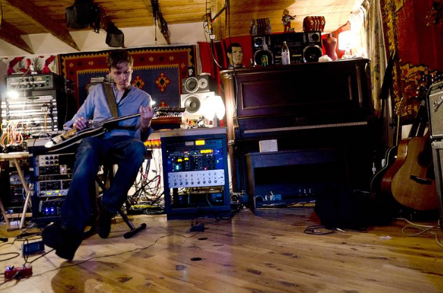 Joel Plaskett in the studio in 2012. INGRAM BARSS