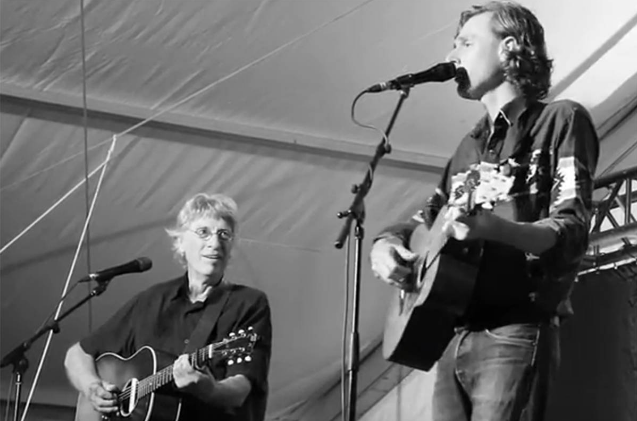 Joel Plaskett and his father Bill. - Image: You Tube